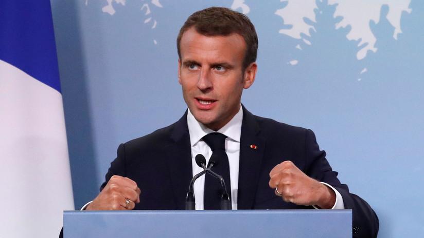 Macron se muestra a favor de sanciones contra países de la UE por rechazar acoger inmigrantes