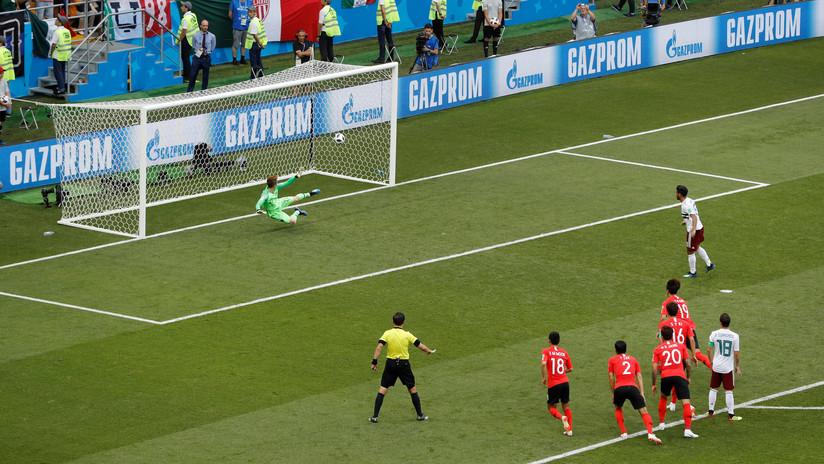 México marca el segundo ante Corea del Sur y sigue con paso firme hacia octavos en Rusia 2018