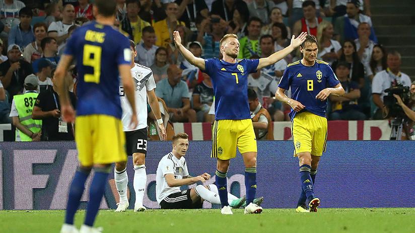 Suecia marca el primer gol a Alemania en el Mundial de Rusia 2018