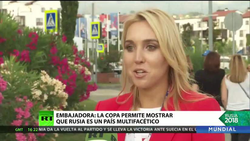 """Embajadora del Mundial 2018: """"Vi a los hinchas felices en un país multifacético"""""""