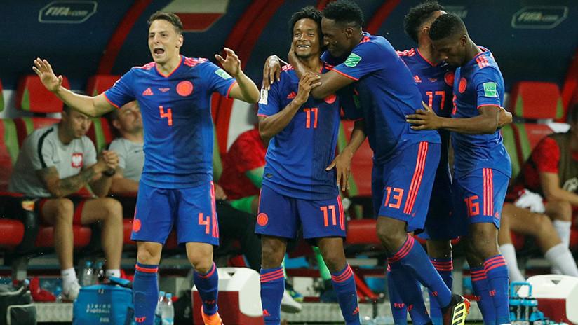 Colombia anota el tercero y manda a Polonia a casa