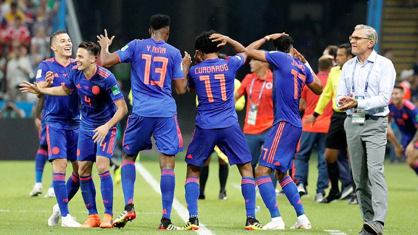 FOTO: El baile de los jugadores colombianos que le inyectó sabor a la victoria contra Polonia