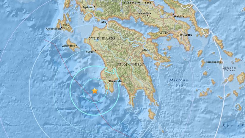 Un temblor de magnitud 5,5 sacude la costa del sur de Grecia
