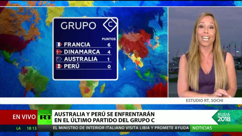 Australia y Perú disputarán su último partido del Grupo C