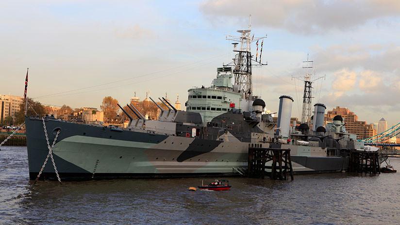 VIDEO: La Marina británica sigue a dos buques de guerra rusos en el Mar del Norte