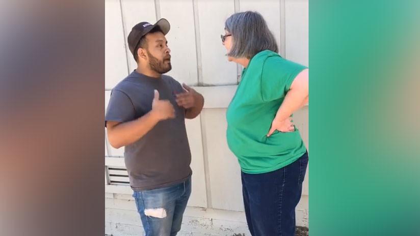 """""""Sois mexicanos, violadores y animales"""": Mujer insulta a un jardinero y a su madre en EE.UU. (VIDEO)"""