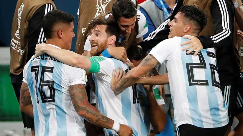 Argentina se salva de milagro y sigue en Rusia 2018