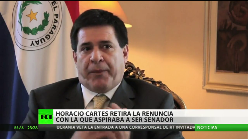 Paraguay: Horacio Cartes retira la renuncia con la que aspiraba a ser senador