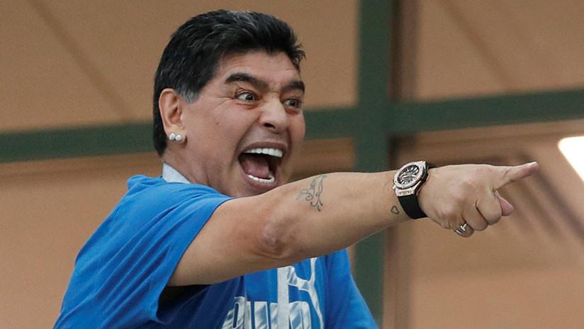 Los gestos de Maradona durante el Nigeria-Argentina desatan una lluvia de memes