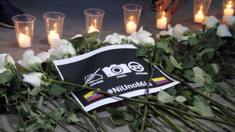 Llegan a Ecuador los cuerpos de los periodistas asesinados en la frontera de Colombia