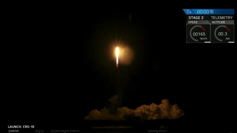 VIDEO: Lanzan desde Cabo Cañaveral la nave espacial Dragon de Space X