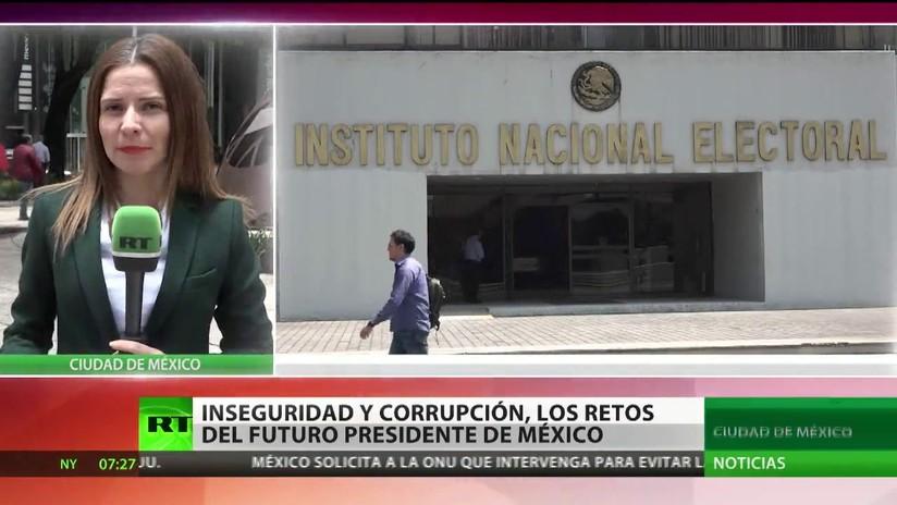 Inseguridad, corrupción y pobreza: Retos del futuro presidente de México