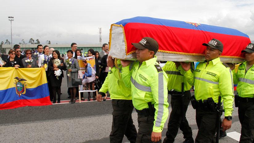 Ecuatorianos dan último adiós a periodistas de El Comercio asesinados por disidentes de las FARC