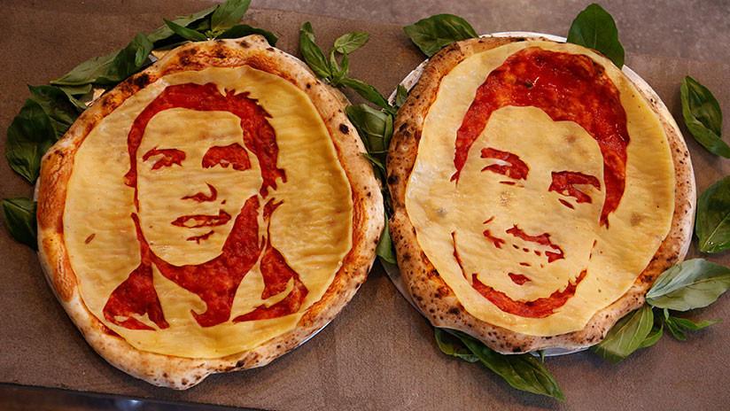 """FOTOS: Aficionados al fútbol pueden """"morder"""" a Luis Suárez en una pizzería de San Petersburgo"""