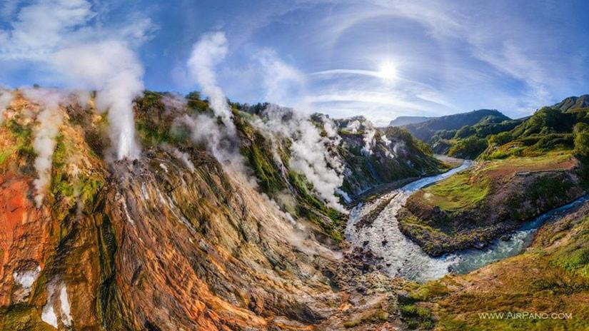 Valle de los géiseres, Región de Kamchatka, Rusia
