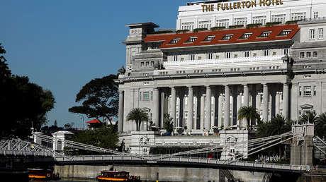 El hotel Fullerton, Singapur