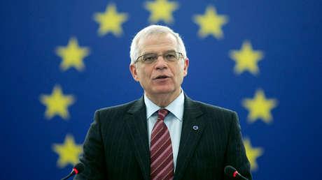 Josep Borrell en el Parlamento Europeo. Estrasburgo, 15 de enero de 2007.
