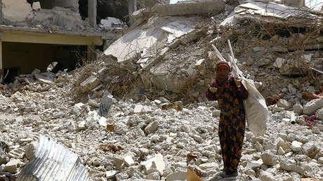 Una mujer en Raqa, Siria, el 14 de mayo de 2018.