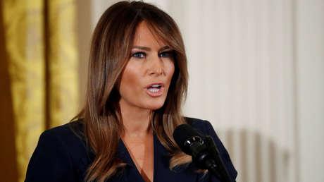 La Primera Dama Melania Trump durante un evento en la Casa Blanca en Washington, Estados Unidos, el 9 de mayo de 2018.