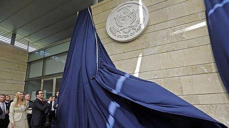 La inauguración de la Embajada de EE.UU. en Jerusalén, el 14 de mayo de 2018.