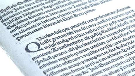 Carta de Cristóbal Colón robada de la Biblioteca Nacional de Cataluña y vendida por 1 millón de dólares. 6 de junio de 2018.