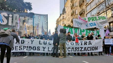 Movilización de trabajadores de prensa, Buenos Aires, Argentina, 6 de junio de 2018.