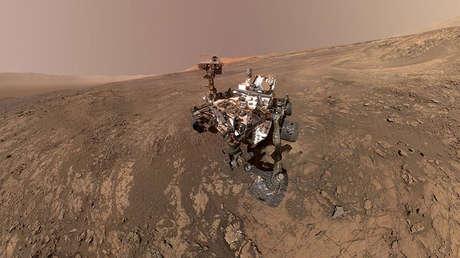 El Curiosity Mars Rover de la NASA en Marte.
