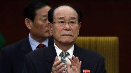 El jefe de Estado formal y presidente del Presídium de la Asamblea Suprema Popular de Corea del Norte, Kim Yong-nam.