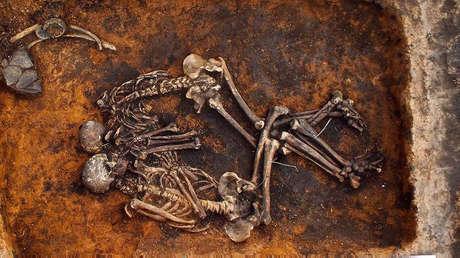 El desentierro en el sitio arqueológico Mijáilovski II