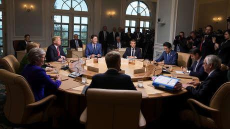 Los líderes del G-7 en la ciudad de La Malbaie, Canadá, el 8 de junio de 2018.