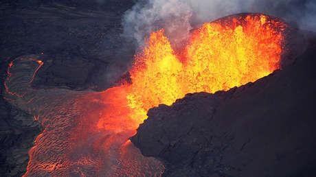 Volcán de Kilauea en Hawái, EE.UU, el 5 de junio de 2018.