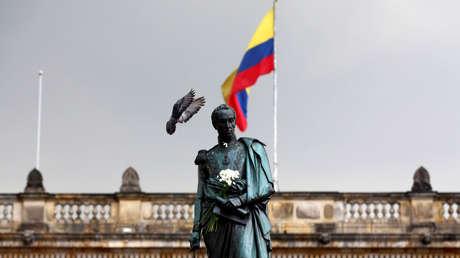 Estatua de Simón Bolívar en Bogotá (Colombia). 7 de octubre de 2016.