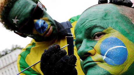 Hinchas del equipo de Brasil