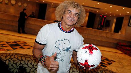 El exfutbolista colombiano Carlos 'Pibe' Valderrama.