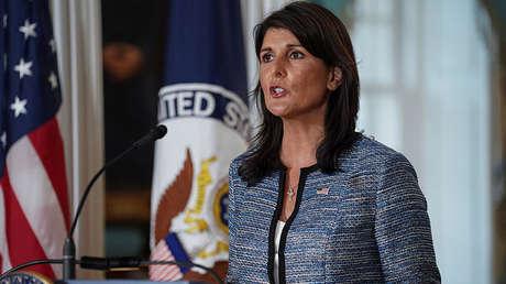 Nikki Haley, enviada estadounidense ante Naciones Unidas.