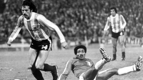 Partido de la Copa Mundial de 1978, Argentina contra Perú en el Estadio Central en Rosario, Argentina el 21 de junio de 1978.
