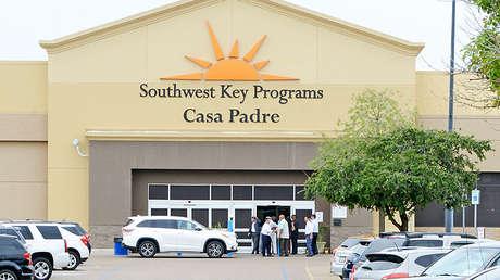 El centro Casa Padre de Southwest Key en Brownsville, Texas, 18 de junio de 2018