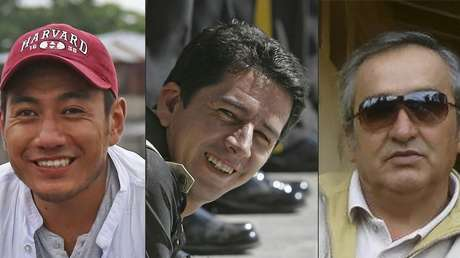El periodista Javier Ortega, el fotógrafo Paúl Rivas, y el conductor Efraín Segarra asesinados.