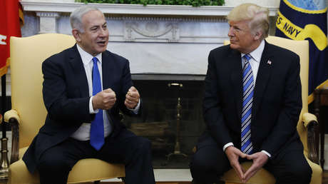 El primer ministro de Israel, Benjamín Netanyahu, y el presidente de EE.UU., Donald Trump, en Washington, EE.UU., el 5 de marzo de 2018