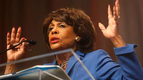 Miembro demócrata de la Cámara de Representantes de EE.UU., Maxine Waters,.