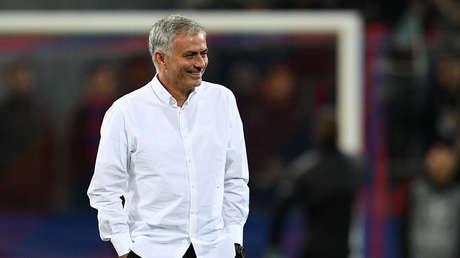 El entrenador de fútbol portugués Jose Mourinho