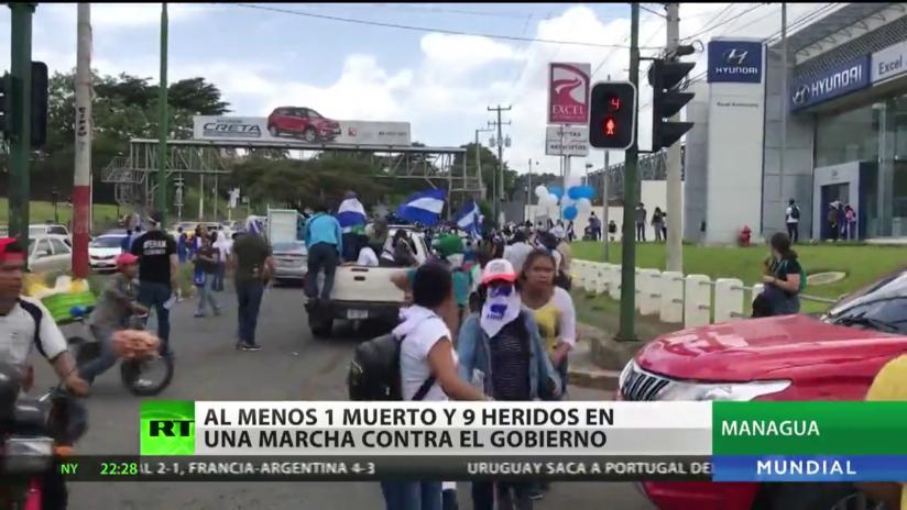 Al menos 1 muerto y 9 heridos en una marcha contra el Gobierno en Nicaragua