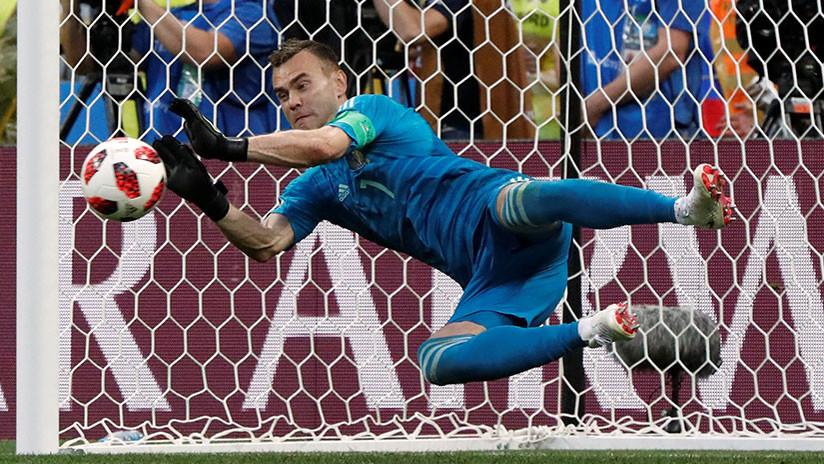 Ígor Akinféyev, el mejor jugador de la histórica victoria de Rusia sobre España