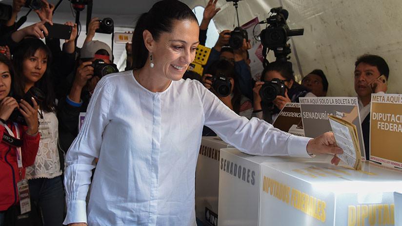 Sheinbaum adelanta como la primera alcalde electa de la Ciudad de México según encuesta de salida