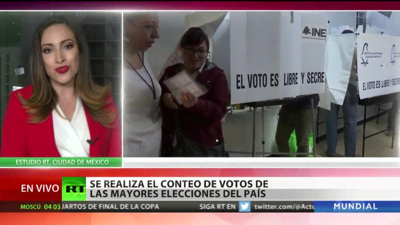 México: Se realiza el conteo de votos de las mayores elecciones del país