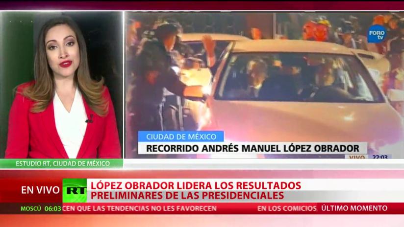 México: López Obrador lidera los resultados preliminares de las presidenciales