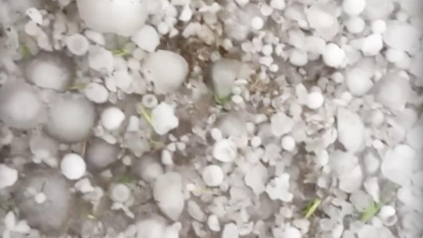 VIDEO: Caen granizos del tamaño de bolas de golf en el sur de Rusia