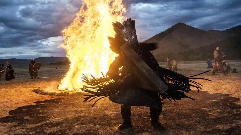 Sumérjase con estas imágenes en la mágica atmósfera de los misteriosos rituales de chamanes mongoles