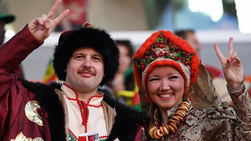 El presidente de la FIFA confiesa estar enamorado de Rusia