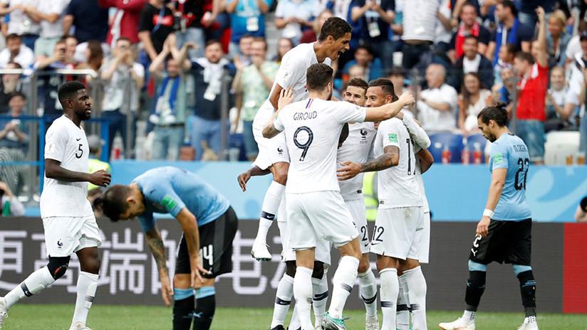 MINUTO a MINUTO: Francia condena a Uruguay con dos goles y pasa a la semifinal del Mundial